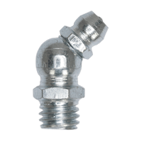 """Sealey GNI10 Grease Nipple 45?ø 1/4""""UNF Pack of 25"""
