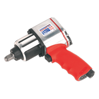 "Sealey GSA02 Air Impact Wrench 1/2""Sq Drive Twin Hammer"