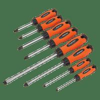 Sealey HV003 Screwdriver Set 8pc Hi-Vis Orange