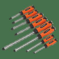 Sealey HV004 Screwdriver Set 8pc Hammer-Thru Hi-Vis Orange