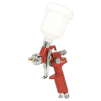 Sealey HVLP731 HVLP Gravity Feed Touch-Up Spray Gun 0.8mm Set-Up