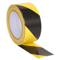 Sealey HWTBY Hazard Warning Tape 50mm x 33m Black/Yellow