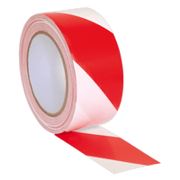 Sealey HWTRW Hazard Warning Tape 50mm x 33m Red/White