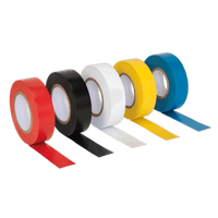 Sealey ITMIX10 PVC Insulating Tape 19mm x 20m Mixed Colours Pack of 10