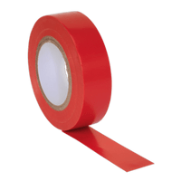 Sealey ITRED10 PVC Insulating Tape 19mm x 20m Red Pack of 10