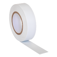 Sealey ITWHT10 PVC Insulating Tape 19mm x 20m White Pack of 10