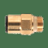 """Sealey JGBC1238 Brass SuperThread Straight Adaptor 12mm x 3/8""""BSP Pack of 2 (John Guest Speedfit?? - RM011213)"""