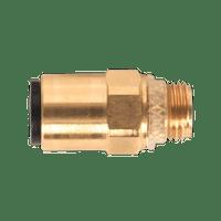 """Sealey JGBC618 Brass SuperThread Straight Adaptor 6mm x 1/8""""BSP Pack of 2 (John Guest Speedfit?? - RM010611)"""