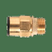 """Sealey JGBC814 Brass SuperThread Straight Adaptor 8mm x 1/4""""BSP Pack of 2 (John Guest Speedfit?? - RM10812)"""