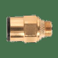 """Sealey JGBC818 Brass SuperThread Straight Adaptor 8mm x 1/8""""BSP Pack of 2 (John Guest Speedfit?? - RM010811)"""