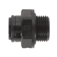 "Sealey JGC838 Straight Adaptor 8mm x 3/8""BSP Pack of 5 (John Guest Speedfit?? - PM010813E)"