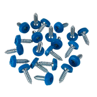 Sealey PTNP4 Number Plate Screw Plastic Enclosed Head 4.8 x 18mm Blue Pack of 50