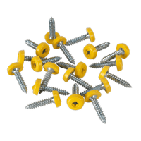 Sealey PTNP6 Number Plate Screw Plastic Enclosed Head 4.8 x 24mm Yellow Pack of 50