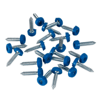 Sealey PTNP8 Number Plate Screw Plastic Enclosed Head 4.8 x 24mm Blue Pack of 50