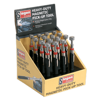 Sealey S0823DB Heavy-Duty Magnetic Pick-Up Tool 3.6kg Capacity Display Box of 16