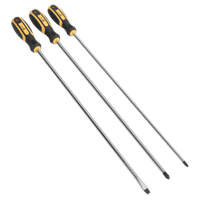 Sealey S0895 Screwdriver Set 3pc Extra-Long