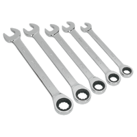 Sealey S0985 Combination Ratchet Spanner Set 5pc Metric