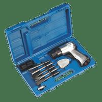 Sealey SA12/S Air Hammer with Chisels Medium Stroke