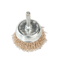 Sealey SCB50 Wire Cup Brush ??50mm with 6mm Shaft