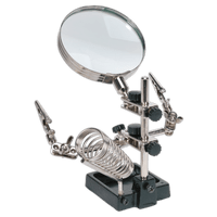 Sealey SD150H Mini Robot Soldering Stand with Magnifier & Iron Holder