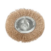 Sealey SFB100 Flat Wire Brush ??100mm with 6mm Shaft