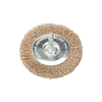 Sealey SFB75 Flat Wire Brush ??75mm with 6mm Shaft