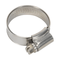 Sealey SHCSS0X Hose Clip Stainless Steel ??22-32mm Pack of 10