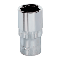 "Sealey SP1410 WallDrive Socket 10mm 1/4""Sq Drive Fully Polished"
