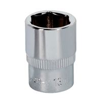 "Sealey SP1413 WallDrive Socket 13mm 1/4""Sq Drive Fully Polished"