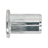 Sealey TISM4 Threaded Insert (Rivet Nut) M4 Splined Pack of 50