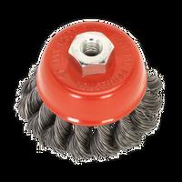 Sealey TKCB65 Twist Knot Wire Cup Brush ??65mm M10 x 1.5mm