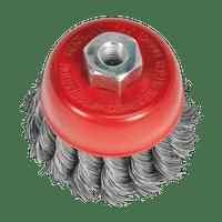 Sealey TKCB652 Twist Knot Wire Cup Brush ??65mm M10 x 1.25mm