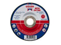 Faithfull FAI1253MDC Depressed Centre Metal Cutting Disc 125 x 3.2 x 22.23mm