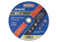 Faithfull FAI2303M Metal Cut Off Disc 230 x 3.2 x 22.23mm
