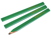 Faithfull FAICPG Carpenters Pencils - Green / Hard (Pack of 3)