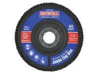 Faithfull FAIFD100M Flap Disc 100mm Medium