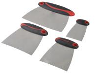 Faithfull FAISGFILLERS Filler & Spreader Set of 4 Stainless Steel