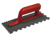 Faithfull FAISGTNOTP Notched Trowel V 4mm & Round 7mm Plastic Handle 11 x 4.1/2in