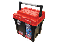 Faithfull FAITB17 Plastic Cube Toolbox - 2 Trays 44cm (17in) Deep