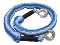 Faithfull FAIAUTRELAST Tow Rope Expanding 4m Metal Hooks 3 Tonnes
