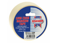 Faithfull FAITAPELTM50 Low Tack Masking Tape 50mm x 50m