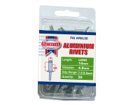 Faithfull FAIAR5L50 Aluminium Rivets 4.8mm x 14mm Long Pre-Pack of 50