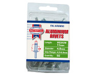Faithfull FAIAR5M50 Aluminium Rivets 4.8mm x 11mm Medium Pre-Pack of 50