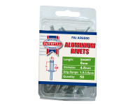 Faithfull FAIAR5S50 Aluminium Rivets 4.8mm x 8mm Short Pre-Pack of 50