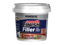 Ronseal RSL5MF290ML Smooth Finish 5 Minute Multi Purpose Filler Tub 290ml