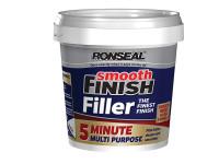 Ronseal RSL5MF600ML Smooth Finish 5 Minute Multi Purpose Filler Tub 600ml