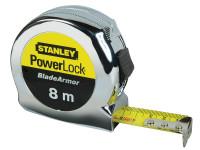 Stanley Tools STA033527 PowerLock BladeArmor Pocket Tape 8m (Width 25mm) (Metric only)