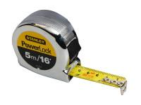 Stanley Tools STA033553 PowerLock Classic Pocket Tape 5m/16ft (Width 19mm)