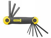 Stanley Tools STA269265 Folding Hexagon Key Set of 9 Imperial (5/64 - 1/4in)
