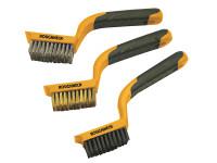 Roughneck ROU52012 Wire Brush Set 3 Piece | Toolden